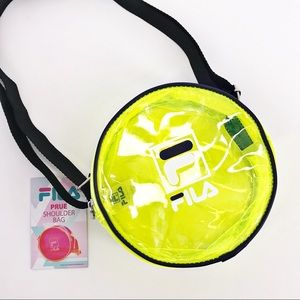 FILA Neon Yellow Prue Shoulder Bag Crossbody NWT